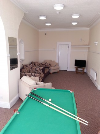 Blackpool Student Accommodation - Living room of Palatine House