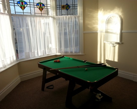Blackpool Student Accommodation - Pool Table in Palatine House